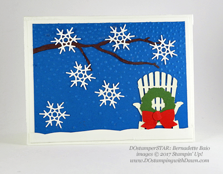 Stampin' Up! Color Theory & Seasonal Layers Thinlits samples shared by Dawn Olchefske #dostamping (Bernadette Baio)