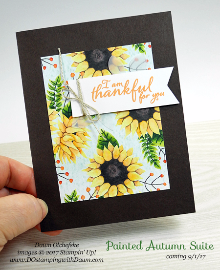 Stampin' Up!  2017 Holiday Catalog  Make & Takes from Thailand Incentive Trip shared by Dawn Olchefske #dostamping  (Painted Autumn Suite)