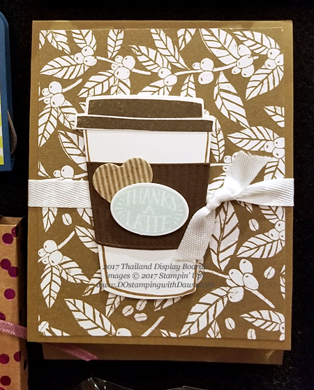 Stampin' Up! Coffee Break Suite cards (Thailand Display Boards) shared by Dawn Olchefske #dostamping