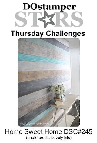DOstamperSTARS Thursday Challenge #245-Home Sweet Home #dostamping