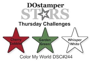 DOstamperSTARS Thursday Challenge #244-Color My World #dostamping