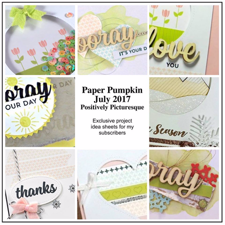 DOstamping Paper Pumpkin Bonus, Positively Picturesque, July 2017 for Dawn Olchefske subscribers