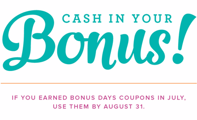 Redeem Your Stampin' Up! Bonus Days Coupon Codes #dostamping