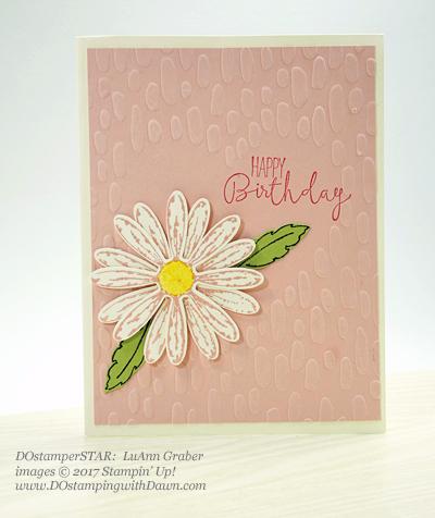 Sharing DOstamperSTARS Stampin' Up! creatsion #dostampingDelightful Daisy Bundle (LuAnn Graber)