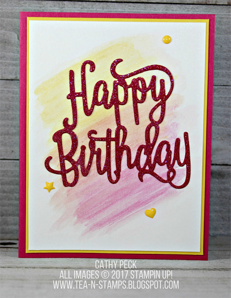 Stampin' Up! Happy Birthday Thinlit shared by Dawn Olchefske  #dostamping (Cathy Peck)