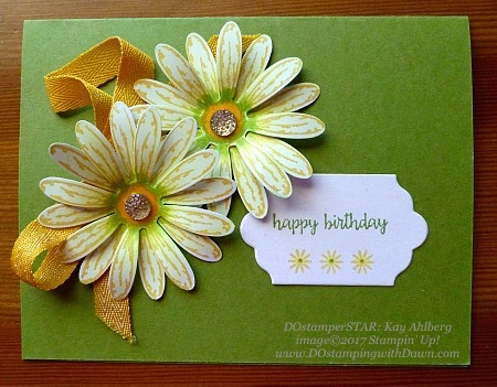 Stampin' Up! Delightful Daisy Bundle shared by Dawn Olchefske  #dostamping (Kay Ahlberg)