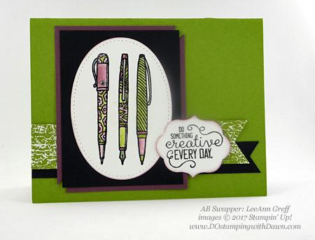 Stampin' Up! Crafting Forever stamp set shared by Dawn Olchefske #dostamping(LeeAnn Greff)
