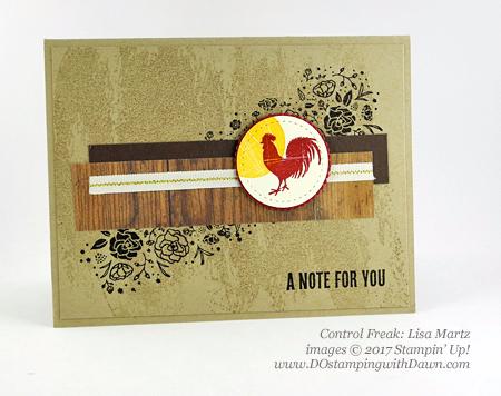 Stampin' Up! Wood Words stamp set shared by Dawn Olchefske #dostamping(Lisa Martz)