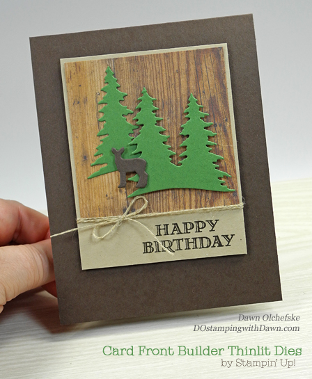 Stampin' Up! Guy Greetings stamp set and Card Front Builder Thinlits shared by Dawn Olchefske #dostamping