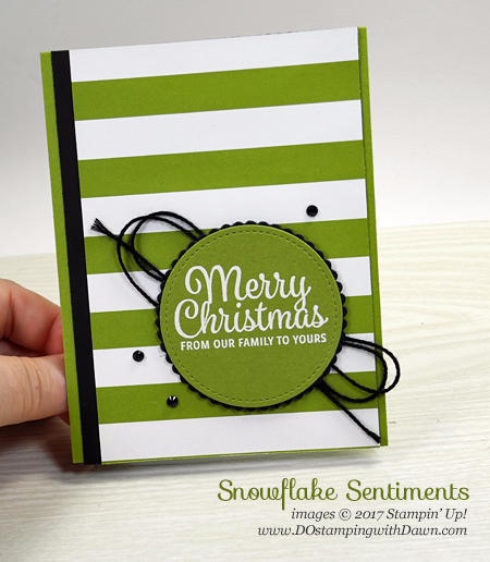 Sneek Peak of Stampin' Up! #2017holidaycatalog #snowflakesentiments  shared by Dawn Olchefske #dostamping #cardmaking #handmade #christmas