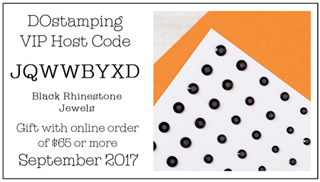 DOstamping September 2017 Host Code JQWWBYXD - Black Rhinestone Jewels Gift with qualifying order
