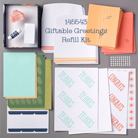 Giftable Greetings Paper Pumpkin August 2017 Refill Kit (145543), Shop with Dawn O #dostamping #paperpumpkin #cardkits #diy #handmade