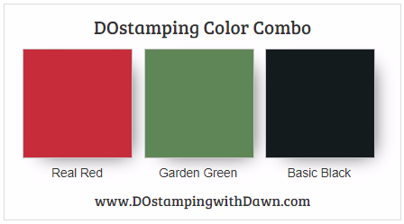 Stampin' Up! color combo: Real Red, Garden Green, Basic Black #dostamping #colorcombo #stampinup #diy