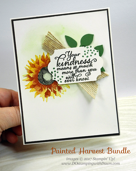 Stampin' Up! Painted Autumn Suite shared by Dawn Olchefske #dostamping #stampinup #handmade #cardmaking #stamping #diy #paintedharvest #leafpunch