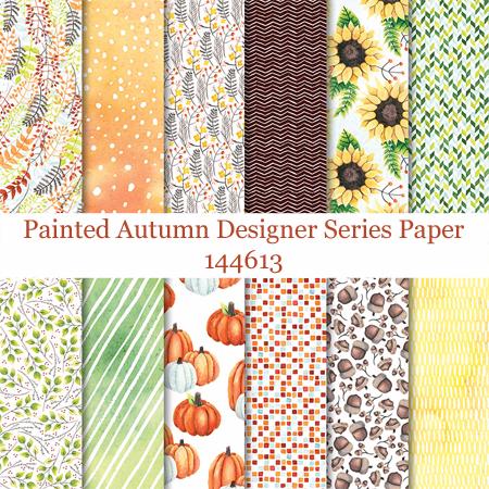 Painted Autumn Designer Series Paper #stampinup #dostamping #scrapbooking #diy #cardmaking