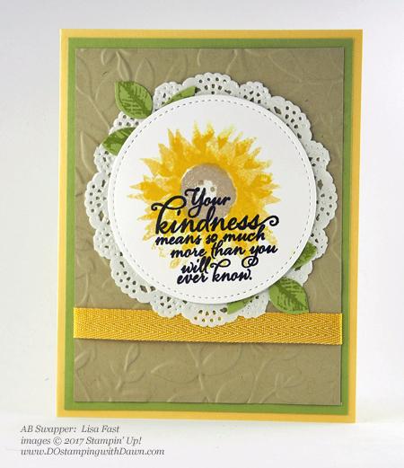 Stampin' Up! Painted Harvest Bundle swap cards shared by Dawn Olchefske #dostamping #stampinup #handmade #cardmaking #stamping #diy #paintedharvest (Lisa Fast)
