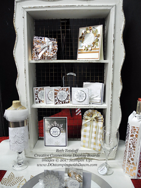Creative Connections Event Display projects shared by Dawn Olchefske #dostamping  #stampinup #handmade #cardmaking #stamping #diy #cheerstotheyear #christmas (BethTetzlaff)