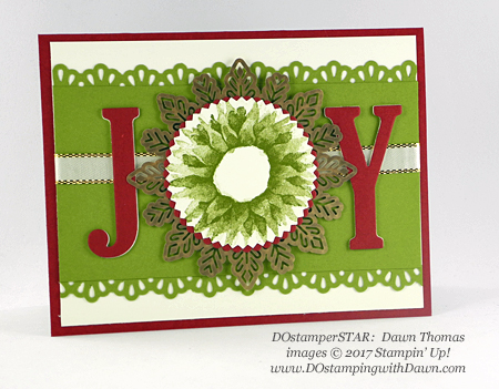 Stampin' Up! Painted Harvest DOstamperSTARS swap shared by Dawn Olchefske #dostamping  #stampinup #handmade #cardmaking #stamping #diy #christmas (Dawn Thomas)
