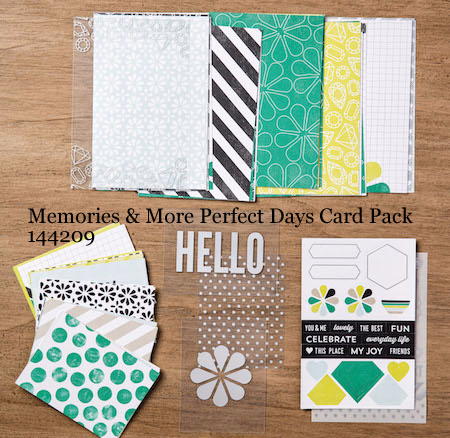 Stampin' Up! Memories & More Perfect Days Card Pack projects shared by Dawn Olchefske #dostamping  #stampinup #handmade #cardmaking #diy #perfectdays #memoriesandmore #scrapbooking