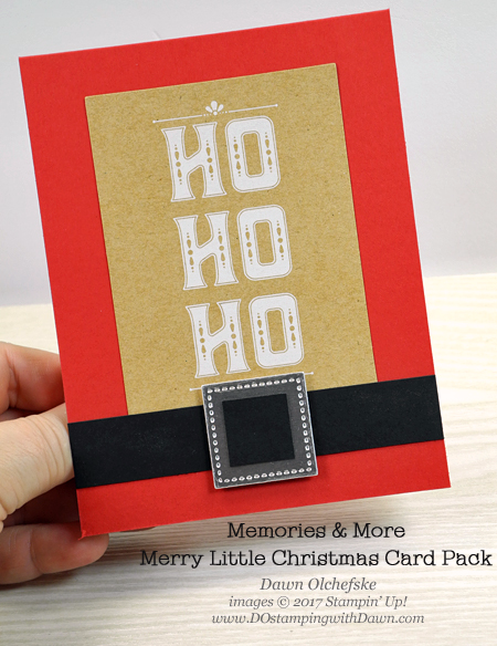 Stampin' Up! Memories & More Merry Little Christmas Card Pack cards by Dawn Olchefske for DOstamperSTARS Thursday Challenge #DSC250 #dostamping #stampinup #handmade #cardmaking #stamping #diy #merrylittlechristmas #christmas #memoriesandmore
