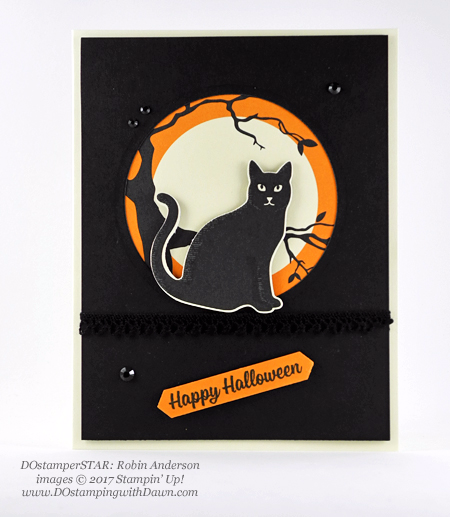 Stampin' Up! Spooky Cat Samples shared by Dawn Olchefske #dostamping  #stampinup #handmade #cardmaking #stamping #diy #spookycat #trickortreat #halloween #catpunch (DOstamperSTAR Robin Anderson)