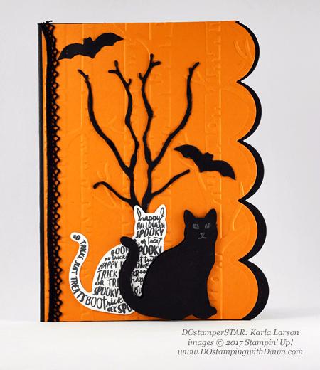 Stampin' Up! Spooky Cat Samples shared by Dawn Olchefske #dostamping #stampinup #handmade #cardmaking #stamping #diy #spookycat #trickortreat #halloween #catpunch (DOstamperSTAR Karla Larson)
