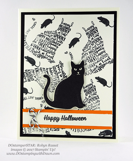 Stampin' Up! Spooky Cat Samples shared by Dawn Olchefske #dostamping  #stampinup #handmade #cardmaking #stamping #diy #spookycat #trickortreat #halloween #catpunch (DOstamperSTAR Robyn Rasset)