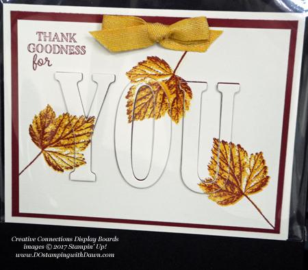 Stampin' Up! Gourd Goodness stamp set & Large Letters Framelits shared by Dawn Olchefske #dostamping #stampinup #handmade #cardmaking #stamping #diy #fall #halloween #rubberstamping