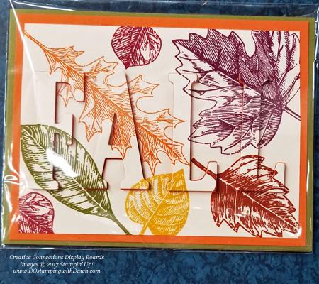 Stampin' Up! Vintage Leaves stamp set & Large Letters framelits shared by Dawn Olchefske #dostamping #stampinup #handmade #cardmaking #stamping #diy #fall #halloween #rubberstamping