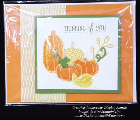 Stampin' Up! Pick a Pumpkin stamp set & Patterned Pumpkin thinlits shared by Dawn Olchefske #dostamping  #stampinup #handmade #cardmaking #stamping #diy #fall #halloween #rubberstamping