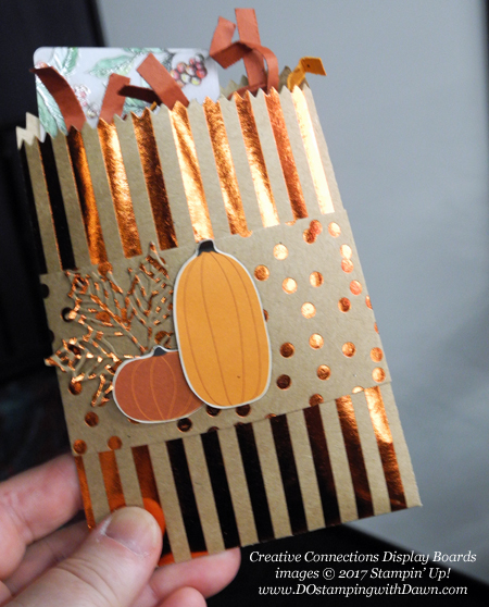 Stampin' Up! Pick a Pumpkin stamp set, Patterned Pumpkins thinlits, Seasonal Layers thinlits & Mini Treat Bag thinlits shared by Dawn Olchefske #dostamping #stampinup #handmade #cardmaking #stamping #diy #fall #halloween #rubberstamping