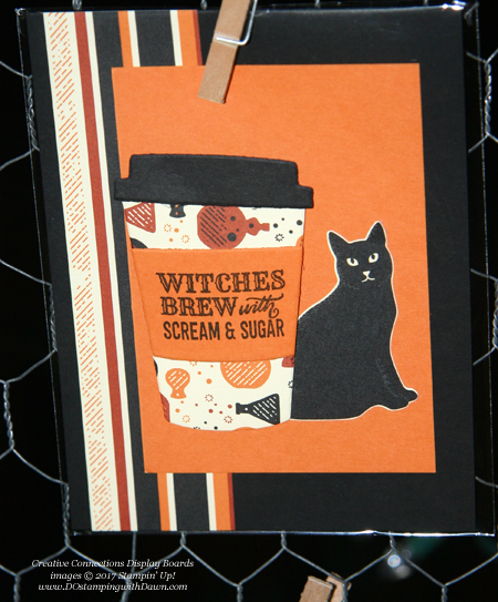 Stampin' Up! Merry Cafe stamp set, Coffee Cups framelits, Spooky Cat bundle shared by Dawn Olchefske #dostamping #stampinup #handmade #cardmaking #stamping #diy #fall #halloween #rubberstamping