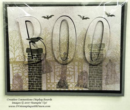 Stampin' Up! Graveyard Gate stamp set & Large Letters framelits shared by Dawn Olchefske #dostamping #stampinup #handmade #cardmaking #stamping #diy #fall #halloween #rubberstamping