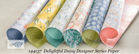 Stampin' Up! Delightful Daisy Designer Series Paper shared by Dawn Olchefske #dostamping  #stampinup #handmade #cardmaking #stamping #diy #rubberstamping