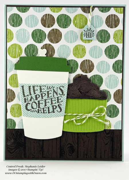 Stampin' Up! Coffee Break Designer Series Paper shared by Dawn Olchefske #dostamping #stampinup #handmade #cardmaking #stamping #diy #rubberstamping (Stephanie Leider)