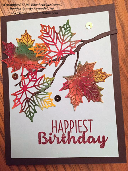 Stampin' Up! Colorful Seasons bundle shared by Dawn Olchefske #dostamping  #stampinup #handmade #cardmaking #stamping #diy #rubberstamping (Elizabeth McConnell)