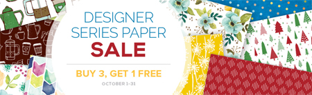 Stampin' Up! Designer Series Paper Buy 3, Get 1 Free Sale - October 2017 Shop with Dawn Olchefske #dostamping #stampinup #DSP #designerseriespaper