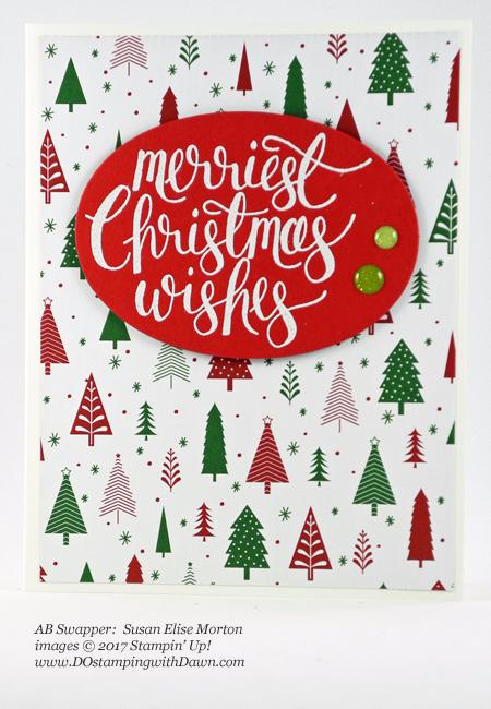 Stampin' Up! Be Merry Designer Series Paper samples shared by Dawn Olchefske #dostamping #stampinup #handmade #cardmaking #stamping #diy #rubberstamping #DSP #designerseriespaper #christmas #bemerry (Susan Elise Morton)