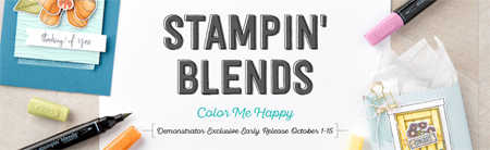 Stampin' Up! Stampin' Blends alcohol markers are here.  #dostamping #stampinup #stampinblends #coloring #colormehappy