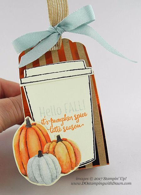 Stampin' Up! Merry Cafe K-Cup Holder shared by Dawn Olchefske #dostamping  #stampinup #handmade #cardmaking #stamping #diy #rubberstamping #merrycafe #kcup #pumpkinspice