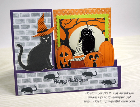 Stampin' Up! Spooky Cat card shared by Dawn Olchefske #dostamping  #stampinup #handmade #cardmaking #stamping #diy #rubberstamping #dostamperstars (Pat Atkinson)