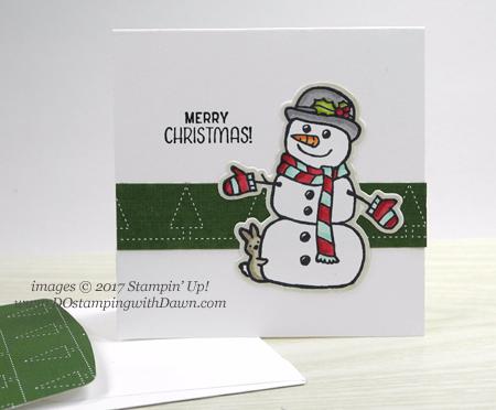 Stampin' Up! Seasonal Chums Mini Pizza Box Shared by Dawn Olchefske for DOstamperSTARS Thursday Challenge #DSC258 #dostamping #stampinup #handmade #cardmaking #stamping #diy #seasonalchums #christmas #gift #minipizzabox #gift