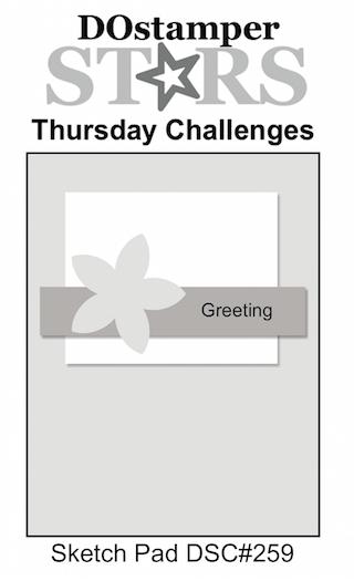 DOstamperSTARS Thursday Challenge #DSC259 #dostamping #stampinup #handmade #cardmaking #stamping #diy