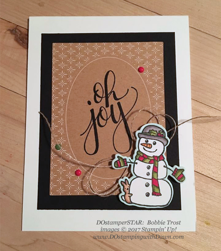 Stampin' Up! Seasons Chums Bundle card shared by Dawn Olchefske #dostamping  #stampinup #handmade #cardmaking #stamping #diy #rubberstamping #christmascards (Bobbie Trost)
