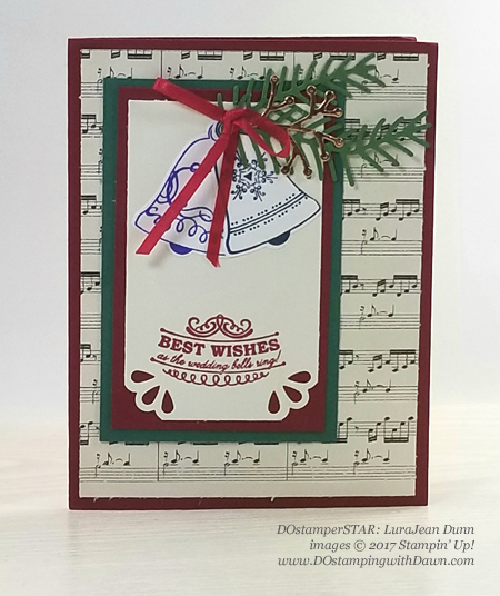 Stampin' Up! Seasonal Bells shared by Dawn Olchefske #dostamping  #stampinup #handmade #cardmaking #stamping #diy #rubberstamping #christmascards (LuraJean Dunn)