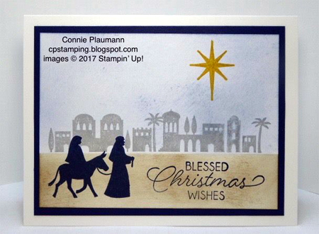 Stampin' Up! Night in Bethlehem Bundle shared by Dawn Olchefske #dostamping  #stampinup #handmade #cardmaking #stamping #diy #rubberstamping #christmascards (Connie Plaumann)