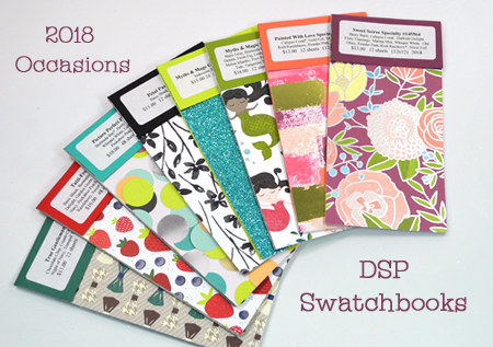 2018 Occasions Catalog DSP Swatchbooks offered by Dawn Olchefske #dostamping #productshares #stampinup #swatchbooks #2018occasionscatalog