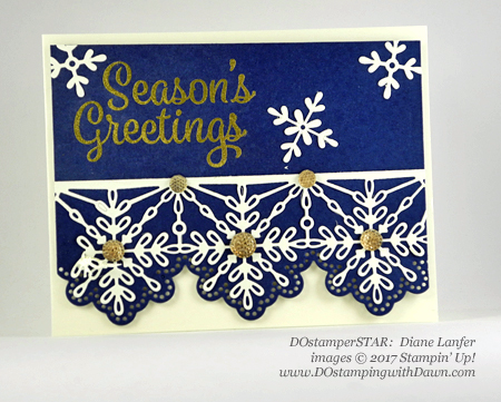Stampin' Up! Snowflake Sentiments Bundle card shared by Dawn Olchefske #dostamping #dostamperstars #christmascards #diy #rubberstamping #handmade (Diane Lanfer)