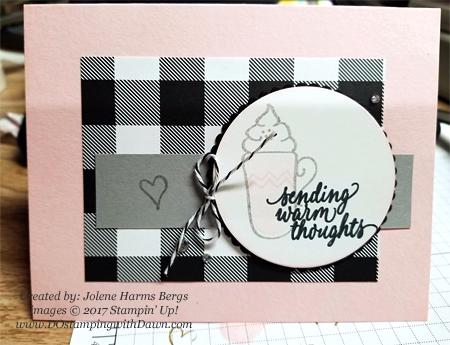 Stampin' Up! Hug in a Mug card shared by Dawn Olchefske #dostamping #christmascards #diy #rubberstamping #handmade (Jolene Harms)