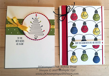 Stampin' Up! Wishes All Aglow cards shared by Dawn Olchefske #dostamping #dostamperstars #christmascards #diy #rubberstamping #handmade (Bobbie Trost)